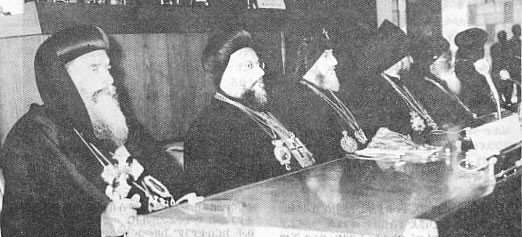 The heads of the Oriental Churches at the Conference.